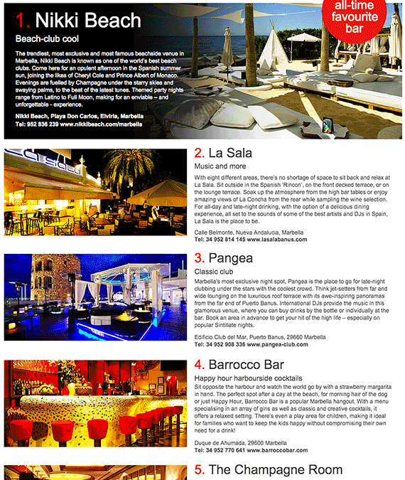 La Sala Voted the Second Hottest Bar in Marbella