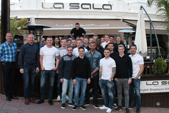 Burnley Football Club Spotted in La Sala