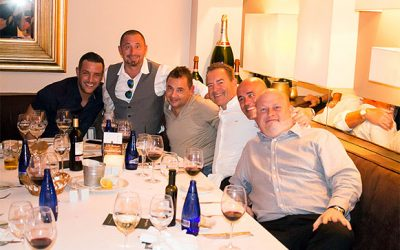 Jeff Stelling and Elliott Wright Steak It Easy in La Sala
