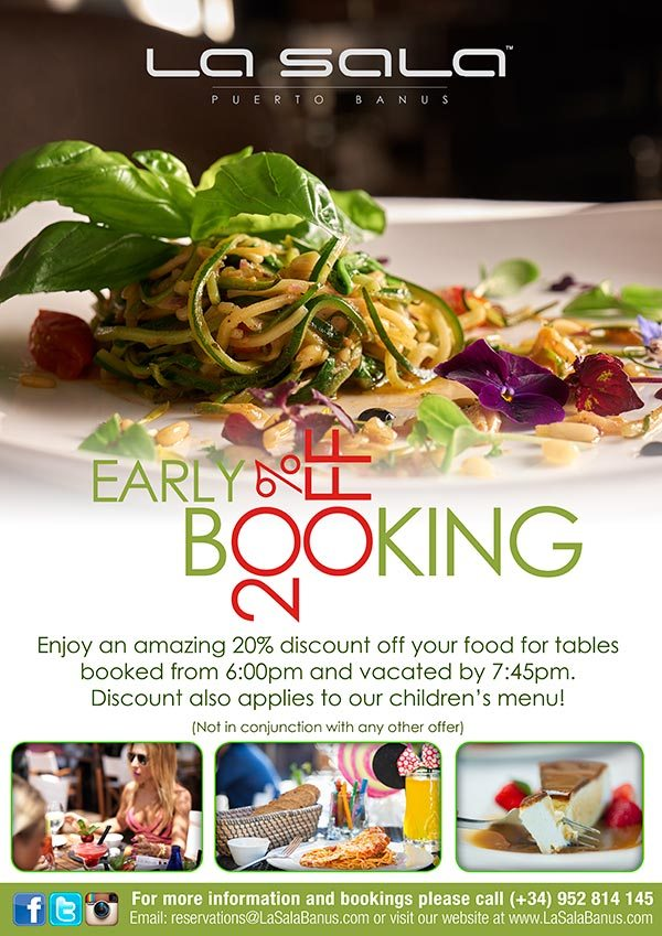 Early Booking Discount at La Sala Puerto Banus
