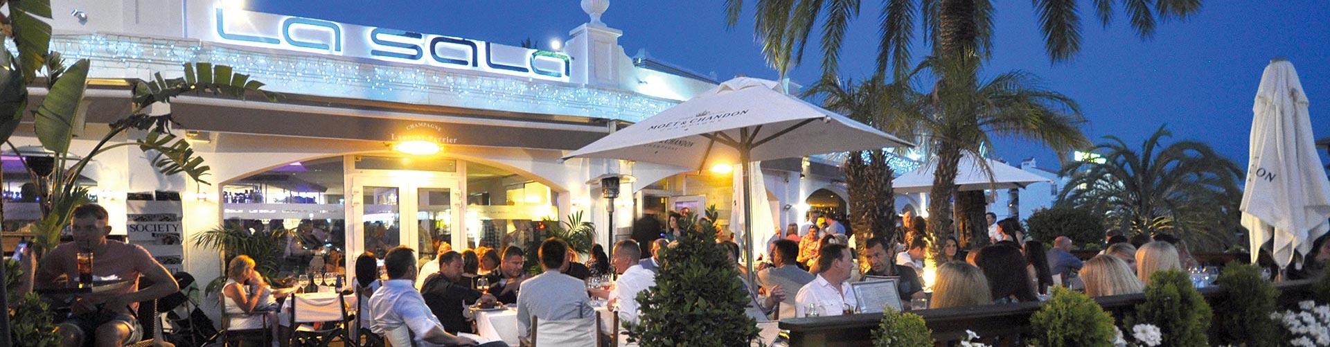 la sala located on calle belmonte road in puerto banus
