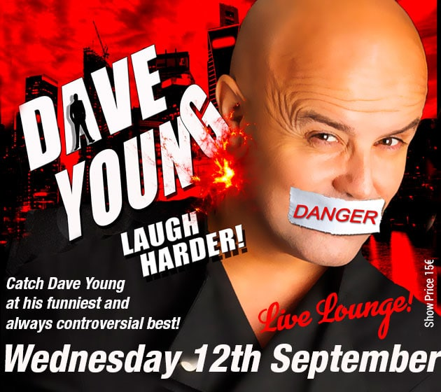 Celebrity Comedian Dave Young set to entertain the Live Lounge at La Sala Banus