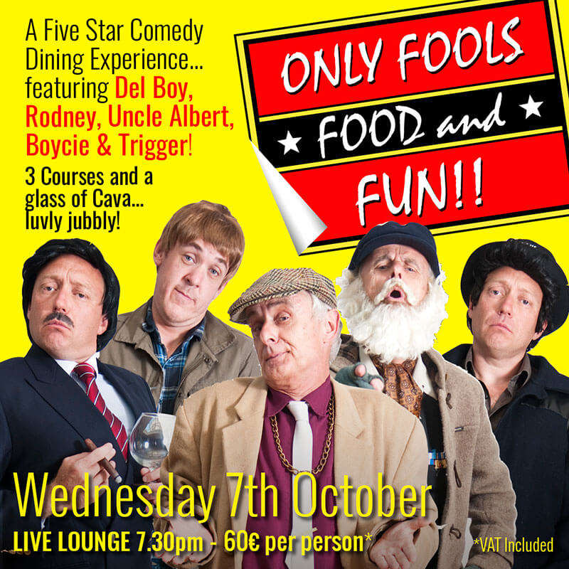 Only Fools, Food & Drink dinner show in Marbella