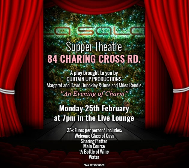 Stage play in Marbella 84 Charring Cross Rd at La Sala