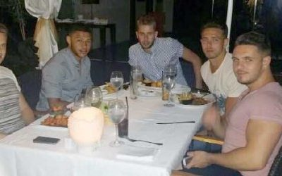 England Footballer Alex Oxlade-Chamberlain Taking a Break in Banus