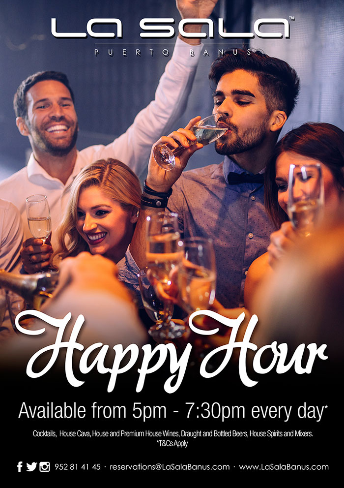 Happy Hour at La Sala Puerto Banus - Marbella