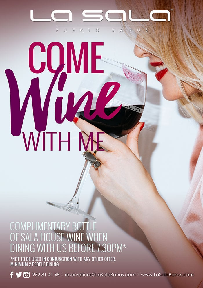 Come Wine With Me at La Sala Puerto Banus