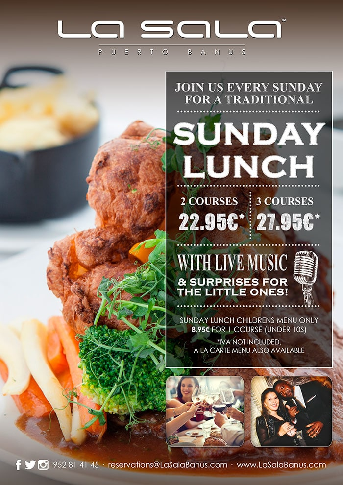The best Sunday Lunch in Marbella at La Sala Puerto Banus