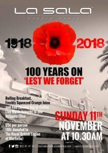 Armistice Day in Marbella at La Sala Puerto Banus