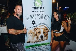 Animal Lovers filled the Live Lounge to support Triple A Fundraising Event at La Sala Banus