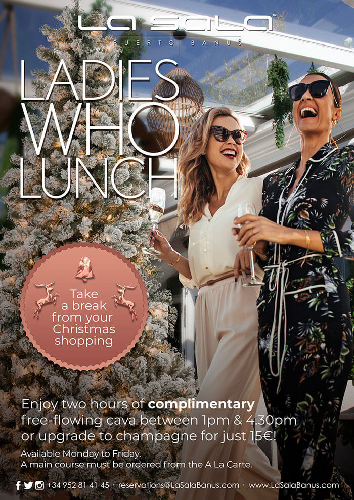 Ladies Who Lunch at Christmas in Marbella