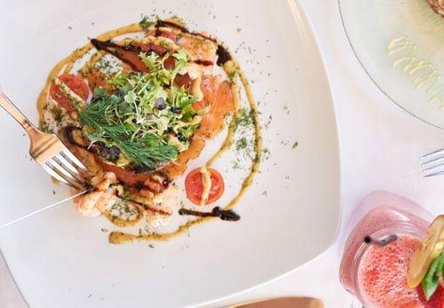Salmon dishes at La Sala Puerto Banus