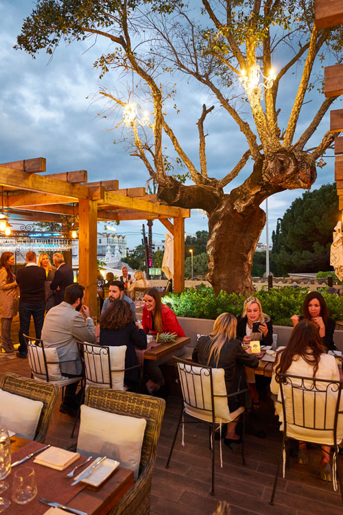 Oak Garden & Grill is an open-air steak restaurant