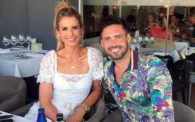Vogue Williams and Spencer Matthews at La Sala