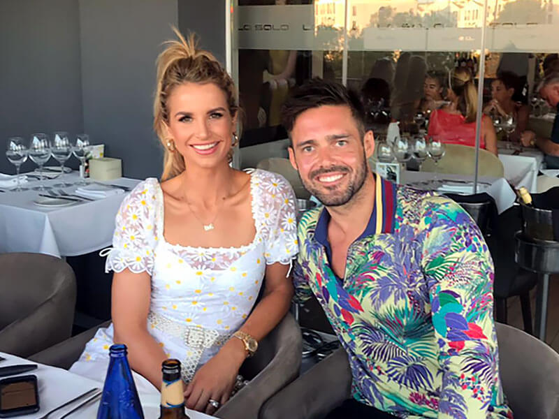 Vogue Williams and Spencer Matthews at La Sala Puerto Banus