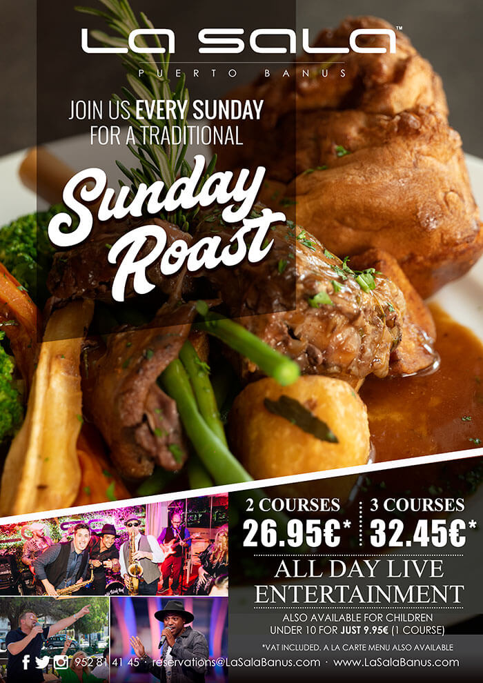 Marbella's best Sunday Roast Lunch