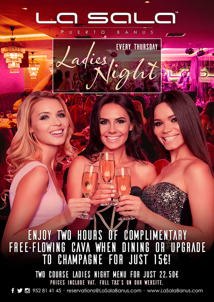 Ladies Night in Marbella at La Sala Puerto Banus