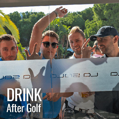 Golfers meet up for drinks after your round at La Sala