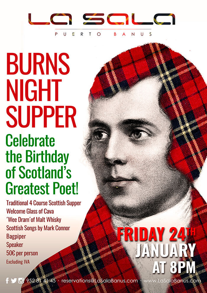 Celebrate Burns Night in Marbella