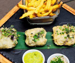 Enjoy vegan fish and chips at La Sala Marbella