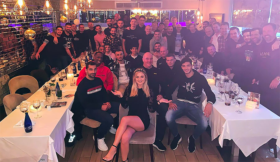 Wolves pay a visit to their favourite Marbella restaurant