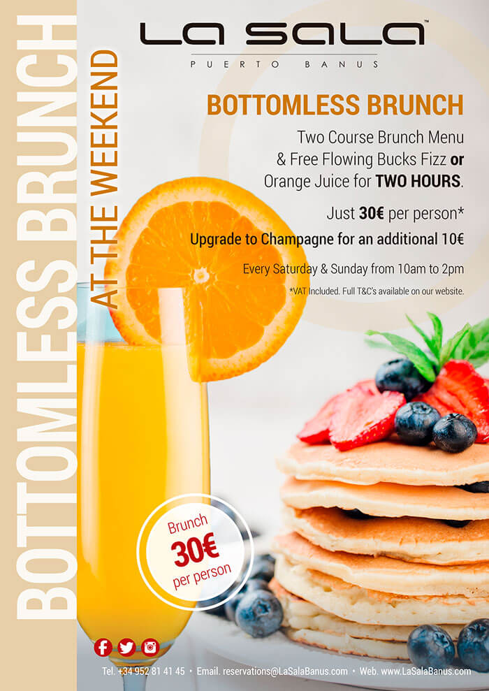 Weekend brunch at La Sala Puerto Banus