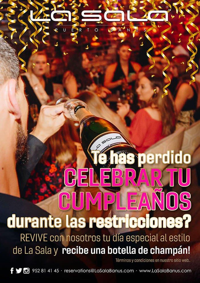 Celebra tu cumpleaños en La Sala Marbella