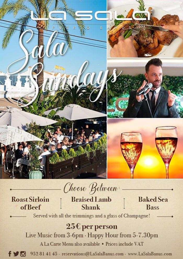 La Sala Sunday Lunch in Puerto Banus