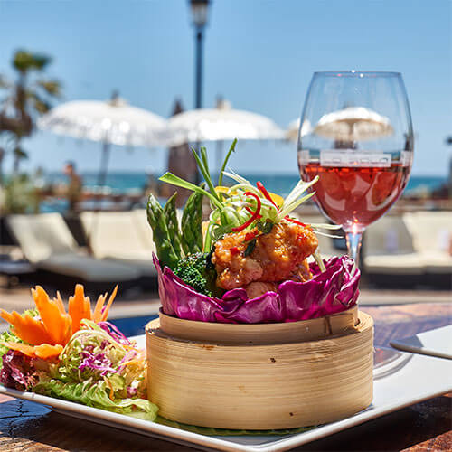 Two Course Lunch by the Sea Menu