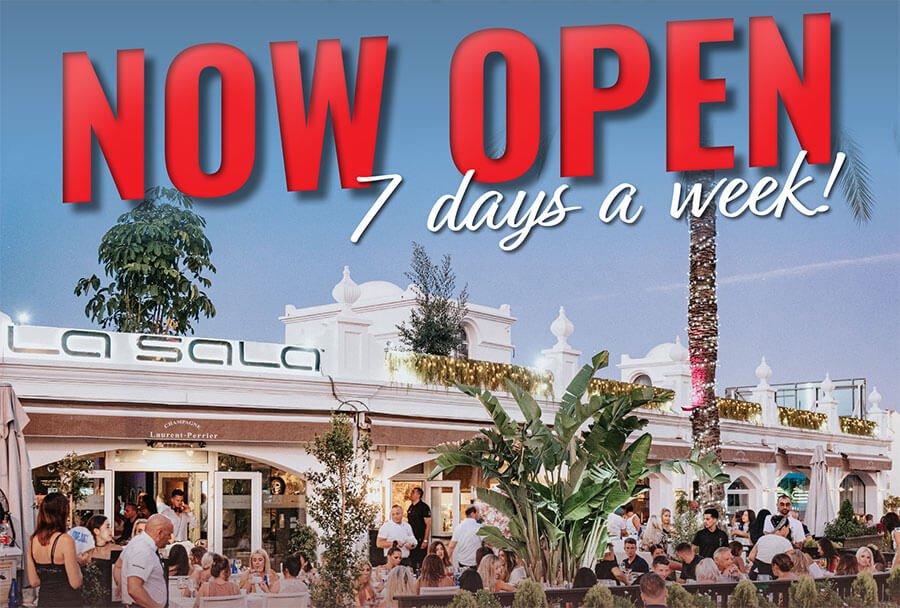 Summer has finally arrived at Marbella Restaurant