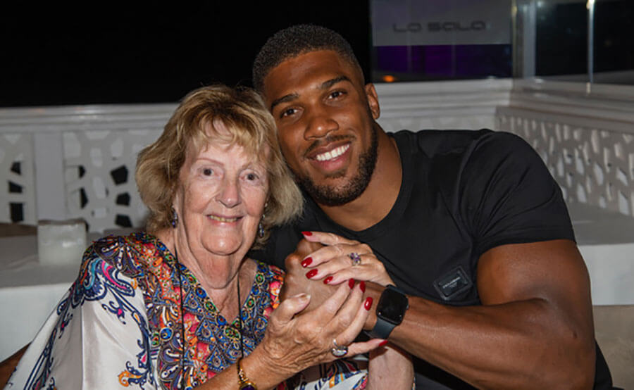 Anthony Joshua catches up with super fan