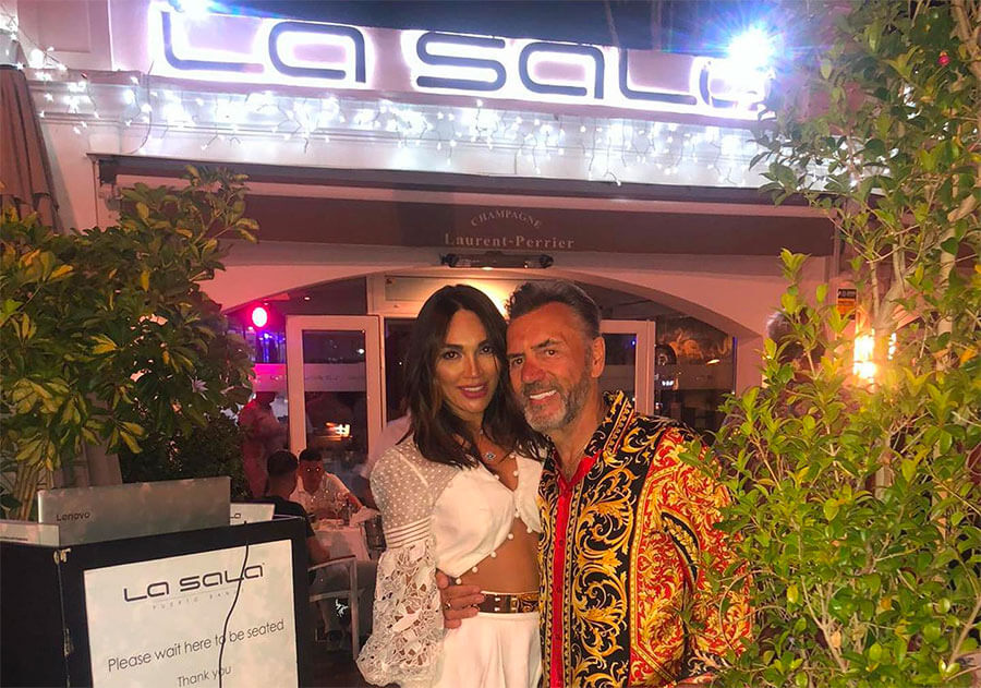 Celebrities return to popular Marbella restaurant