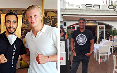 Top Footballers old and new enjoy dinner