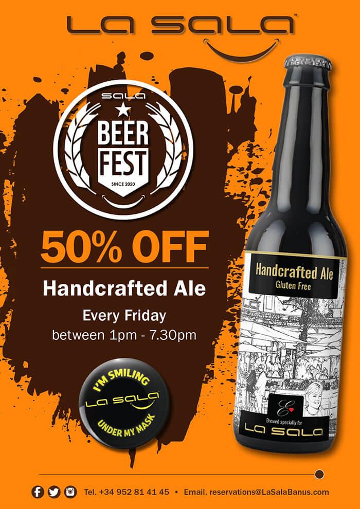 Friday is Beer Fest, half price ale at La Sala