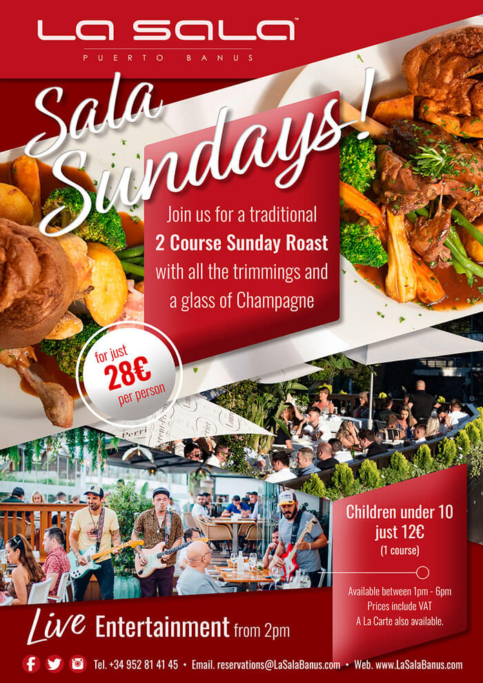 Sala Sunday Lunches and all day Live music
