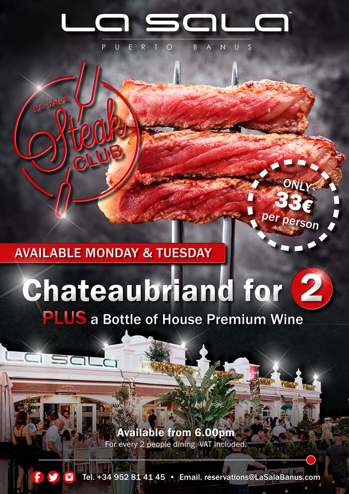 Steak promotions and offers in Marbella