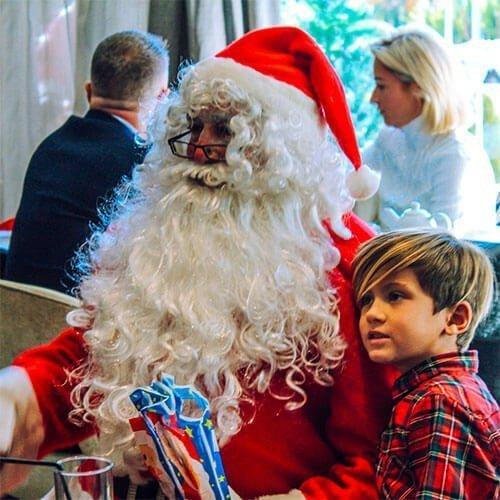Santa Claus visiting La Sala Puerto Banus